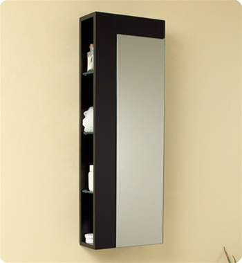 Fresca Serio Espresso Modern Bathroom Vanity w/ Mirror & Side Cabinet with delivery to UK