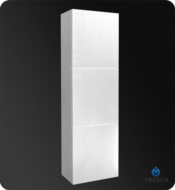 Fresca Pulito Small White Modern Bathroom Vanity w/ Tall Mirror with delivery to UK