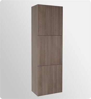 Fresca Mezzo Gray Oak Modern Bathroom Vanity w/ Medicine Cabinet with delivery to UK
