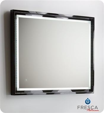 Fresca Platinum Wave  Glossy Black Modern Bathroom Vanity with delivery to UK