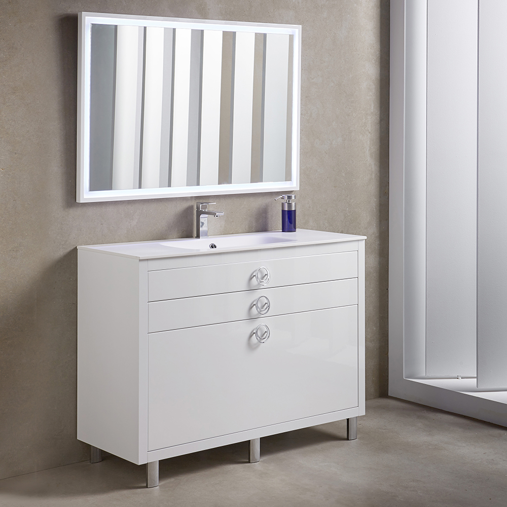 Fresca Platinum Due  Glossy White Bathroom Vanity with delivery to UK