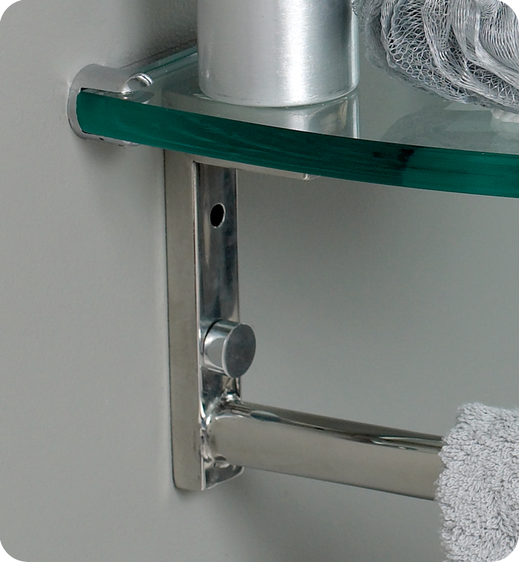 Fresca Attrazione Modern Glass Bathroom Vanity w/ Frosted Edge Mirror with delivery to UK