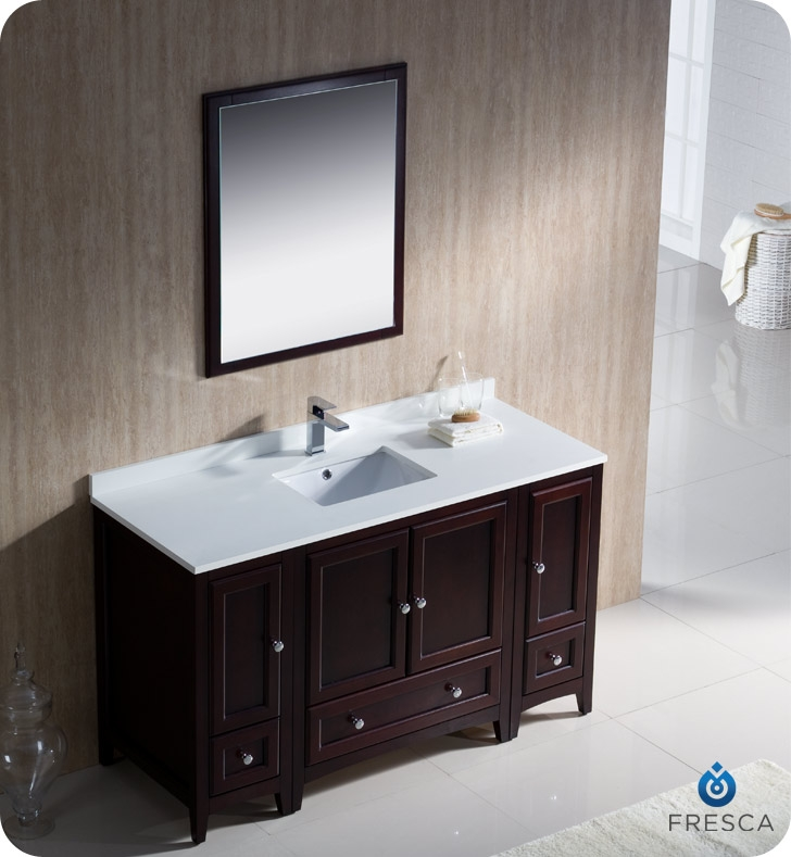 Fresca Oxford  Mahogany Traditional Bathroom Vanity with delivery to UK
