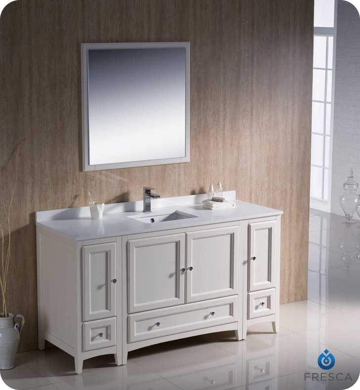Fresca Oxford  Antique White Traditional Bathroom Vanity with delivery to UK