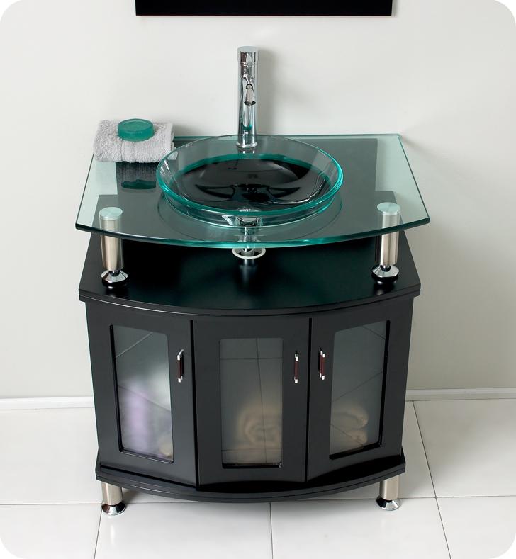 Fresca Contento  Espresso Modern Bathroom Vanity w/ Mirror with delivery to UK