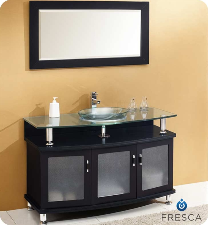 Fresca Contento  Espresso Modern Bathroom Vanity w/ Mirror with delivery to UK
