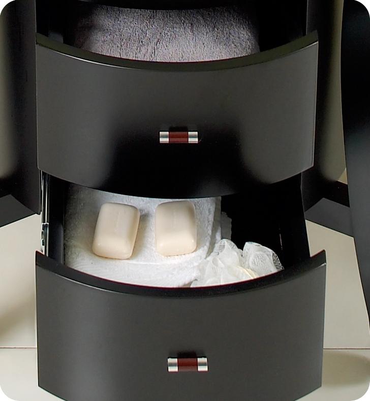 Fresca Simpatico Espresso Modern Bathroom Vanity w/ Mirror & Shelves with delivery to UK