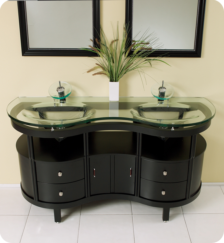 Fresca Unico Espresso Modern Bathroom Vanity w/ Mirrors with delivery to UK