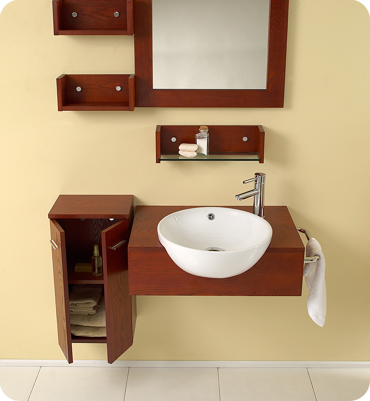 Fresca Stile Modern Bathroom Vanity w/ Mirror & Side Cabinet with delivery to UK
