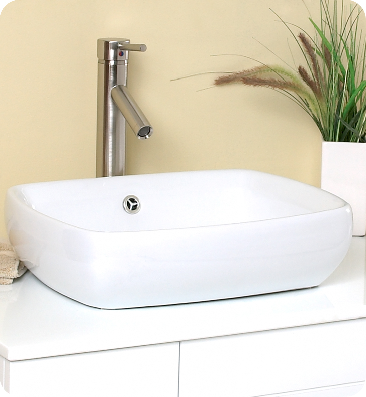 Fresca Bellezza White Modern Double Vessel Sink Bathroom Vanity with delivery to UK