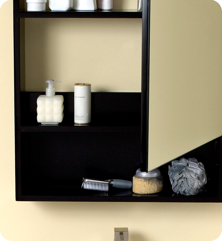 Fresca Amato Espresso Modern Bathroom Vanity w/ Medicine Cabinet with delivery to UK