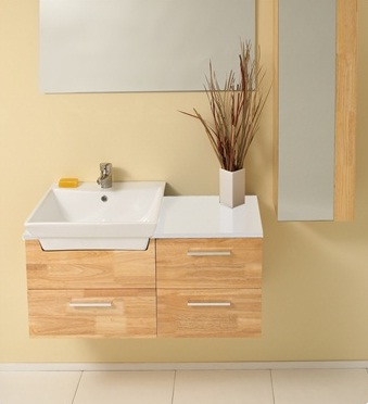 Fresca Caro Natural Wood Modern Bathroom Vanity w/ Mirrored Side Cabinet with delivery to UK