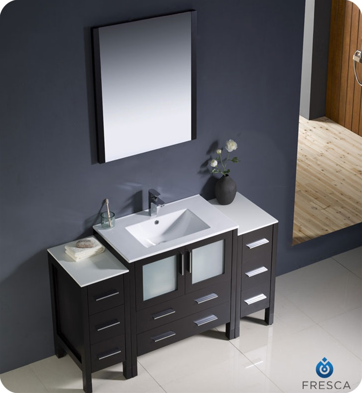 Fresca Torino  Espresso Modern Bathroom Vanity w/  Side Cabinets & Integrated Sink with delivery to UK