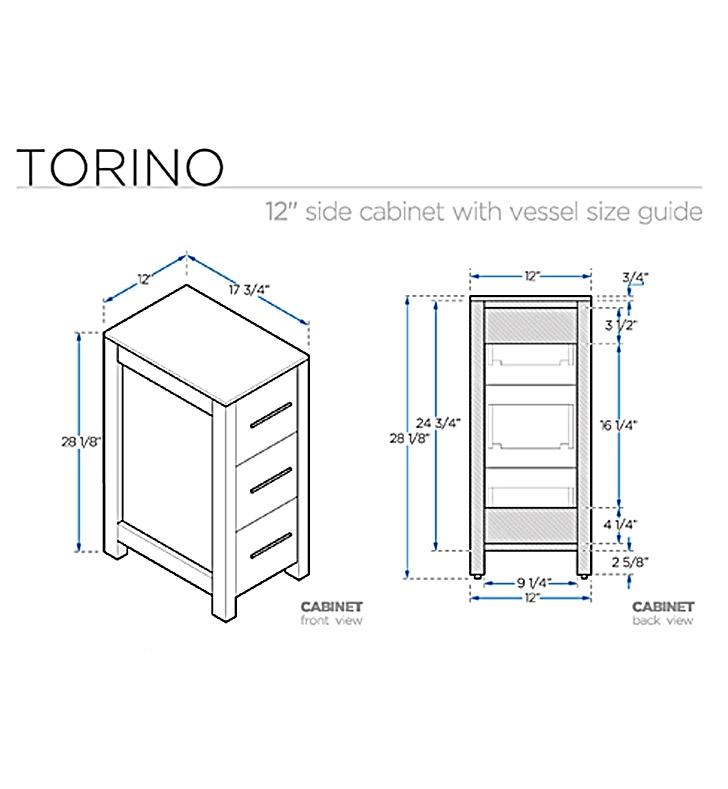 Fresca Torino  Espresso Modern Double Sink Bathroom Vanity w/ Side Cabinet & Vessel Sinks with delivery to UK