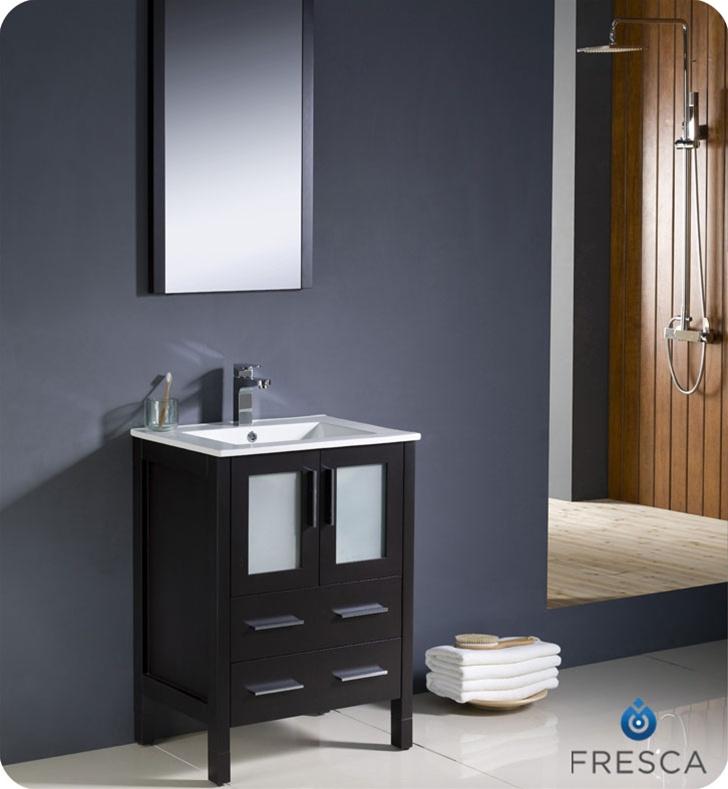 Fresca Torino  Espresso Modern Bathroom Vanity w/ Integrated Sink with delivery to UK
