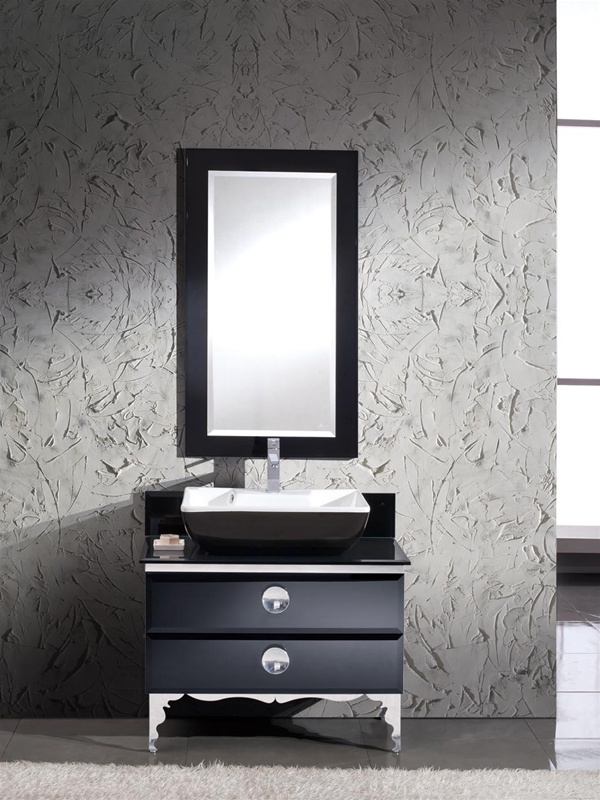 Fresca Moselle  Modern Glass Bathroom Vanity w/ Mirror with delivery to UK
