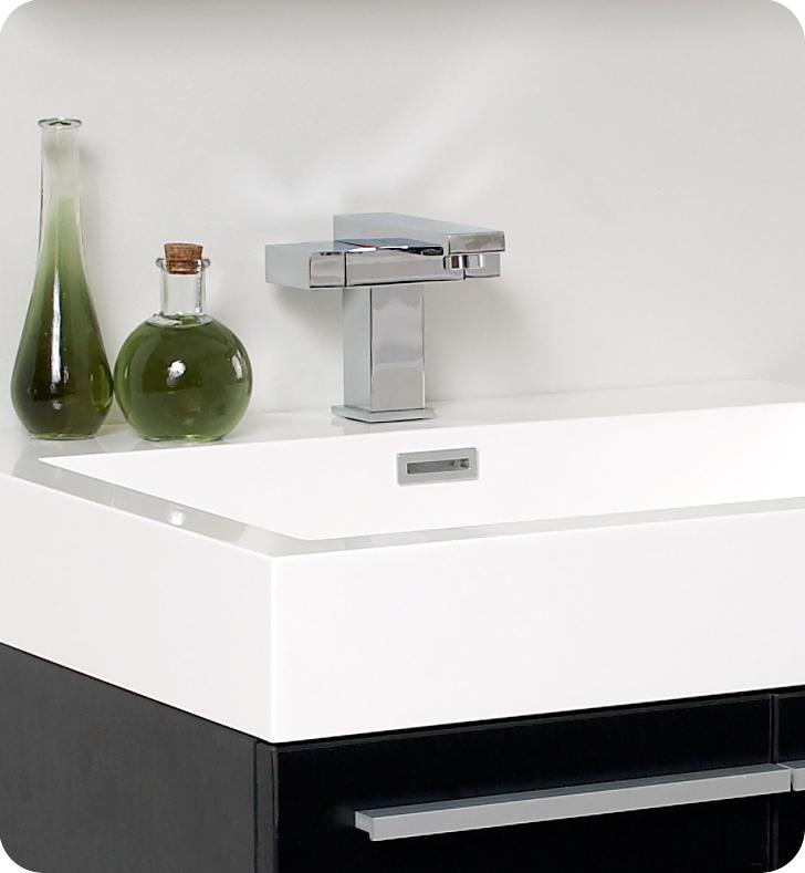 Fresca Alto Black Modern Bathroom Vanity w/ Medicine Cabinet with delivery to UK