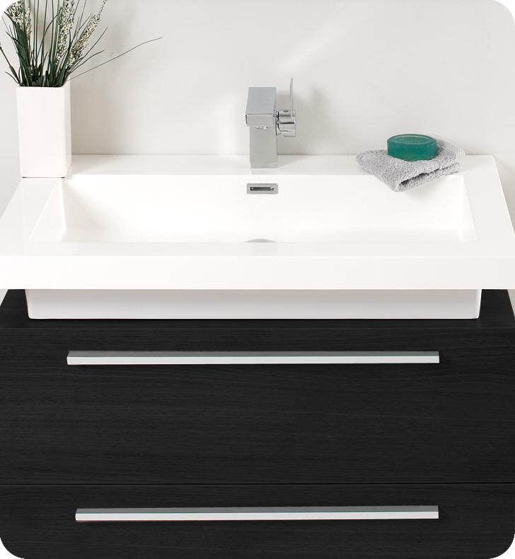 Fresca Medio Black Modern Bathroom Vanity w/ Medicine Cabinet with delivery to UK