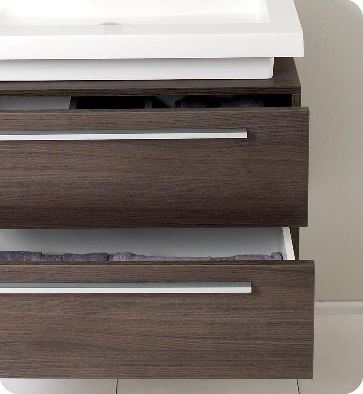 Fresca Medio Gray Oak Modern Bathroom Vanity w/ Medicine Cabinet with delivery to UK