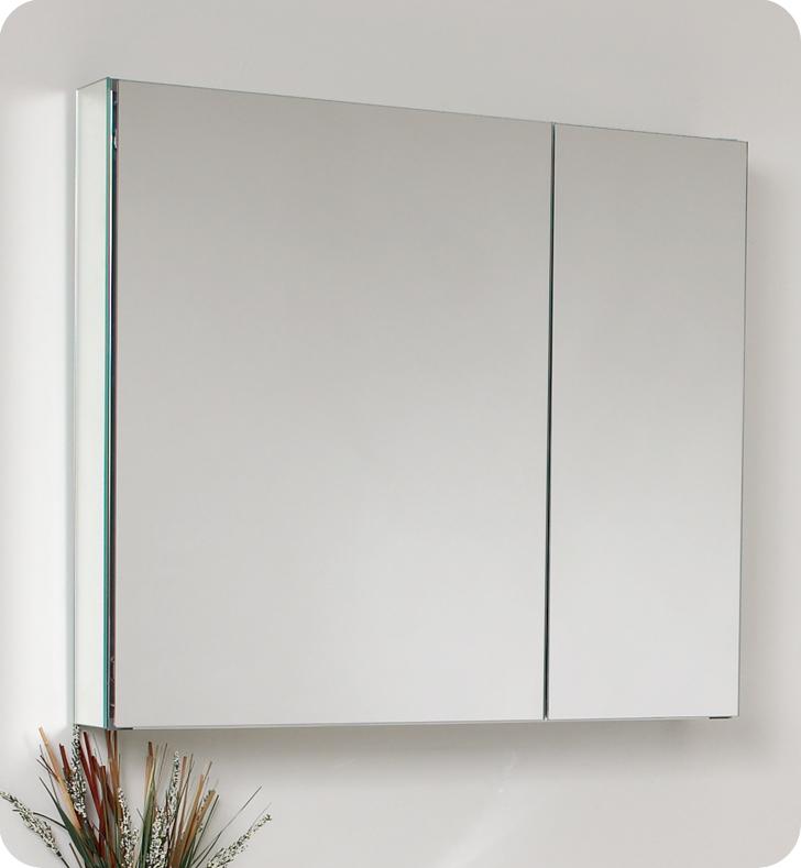 Fresca Medio Teak Modern Bathroom Vanity w/ Medicine Cabinet with delivery to UK
