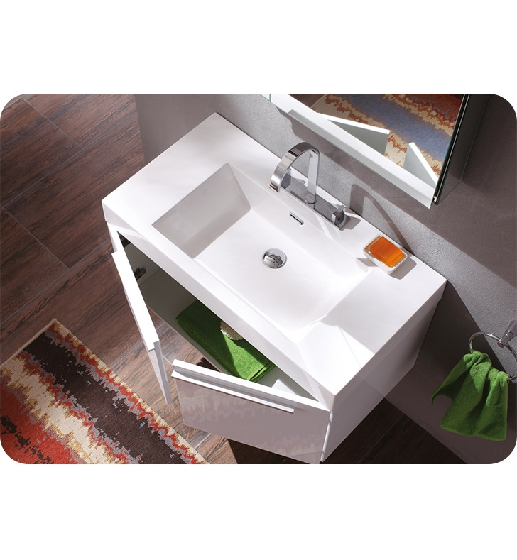 Fresca Vista White Modern Bathroom Vanity w/ Medicine Cabinet with delivery to UK