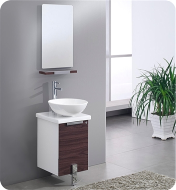Fresca Adour  Dark Walnut Modern Bathroom Vanity w/ Mirror with delivery to UK