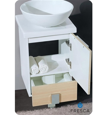 Fresca Adour  Light Walnut Modern Bathroom Vanity w/ Mirror with delivery to UK