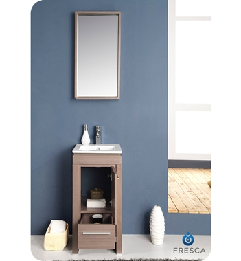 Fresca Allier  Gray Oak Modern Bathroom Vanity w/ Mirror with delivery to UK