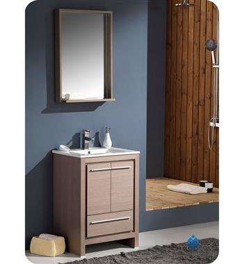 Fresca Allier  Gray Oak Modern Bathroom Vanity w/ Mirror with delivery to UK