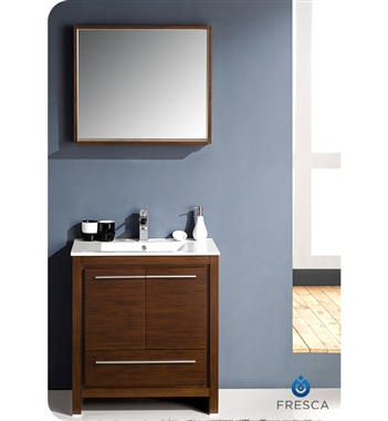Fresca Allier  Wenge Brown Modern Bathroom Vanity w/ Mirror with delivery to UK