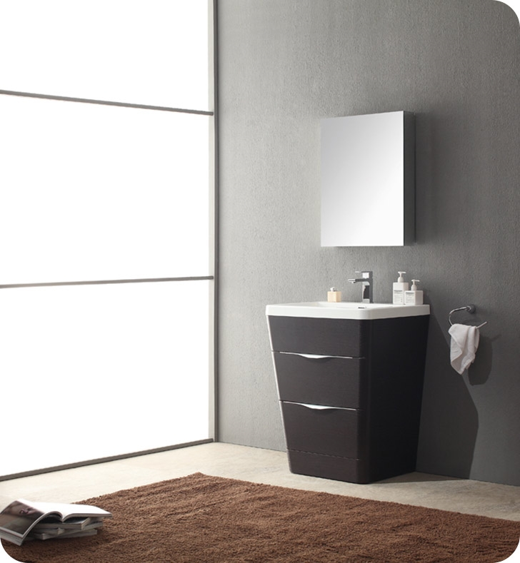 Fresca Milano  Chestnut Modern Bathroom Vanity w/ Medicine Cabinet with delivery to UK