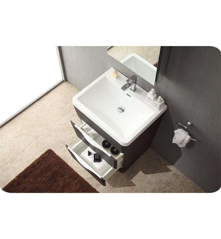 Fresca Milano  Chestnut Modern Bathroom Vanity w/ Medicine Cabinet with delivery to UK