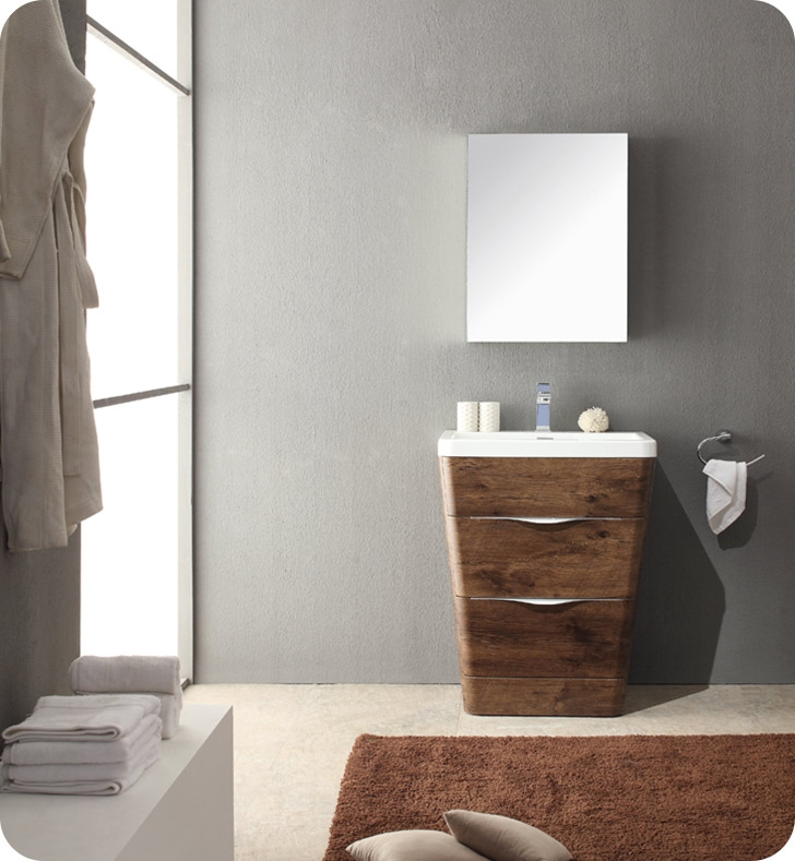 Fresca Milano  Rosewood Modern Bathroom Vanity w/ Medicine Cabinet with delivery to UK